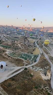 The City of Fairy Chimneys and Balloons Cappadocia